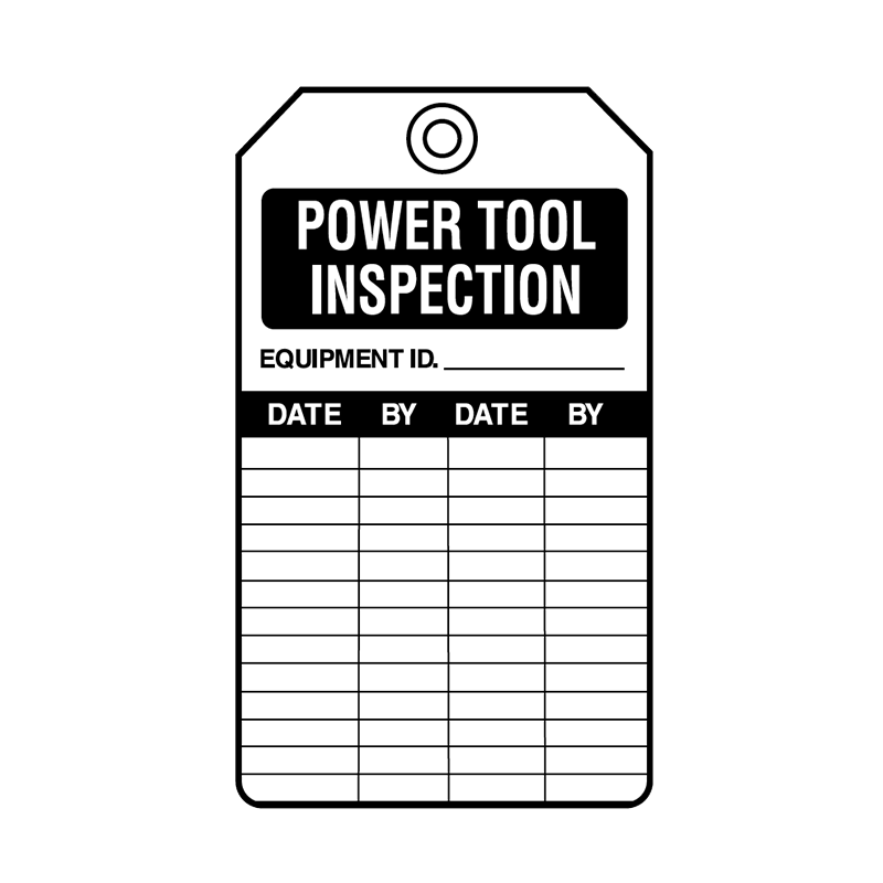 Brady Equipment Servicing Tag Power Tool Inspection 847345