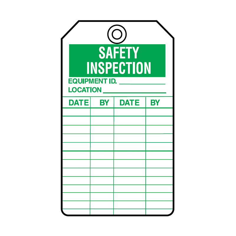 Brady Equipment Servicing Tag Safety Inspection 847340