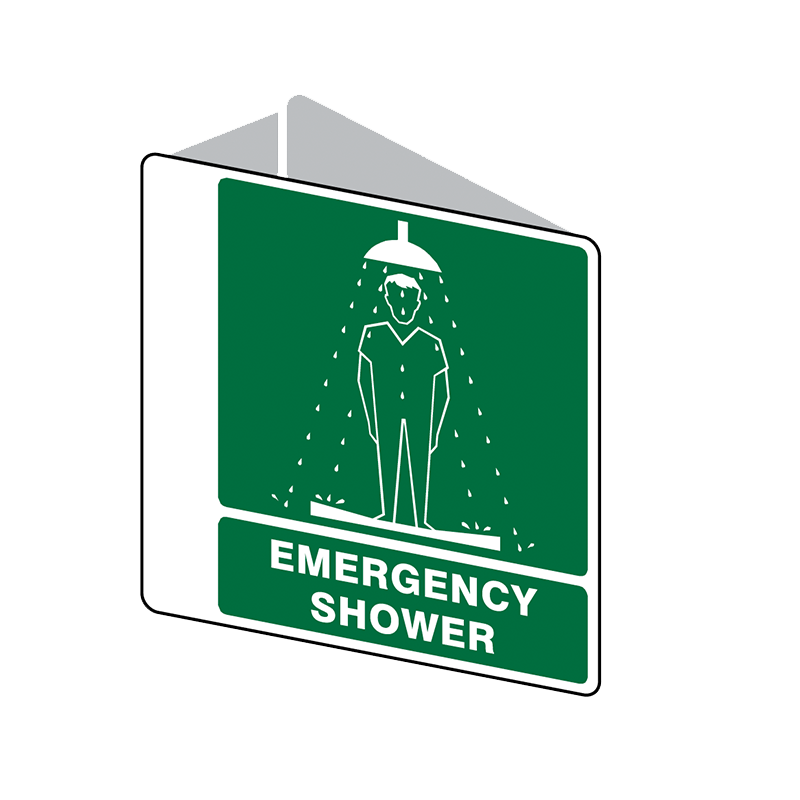 Brady First Aid Sign 2 Way Emergency Shower