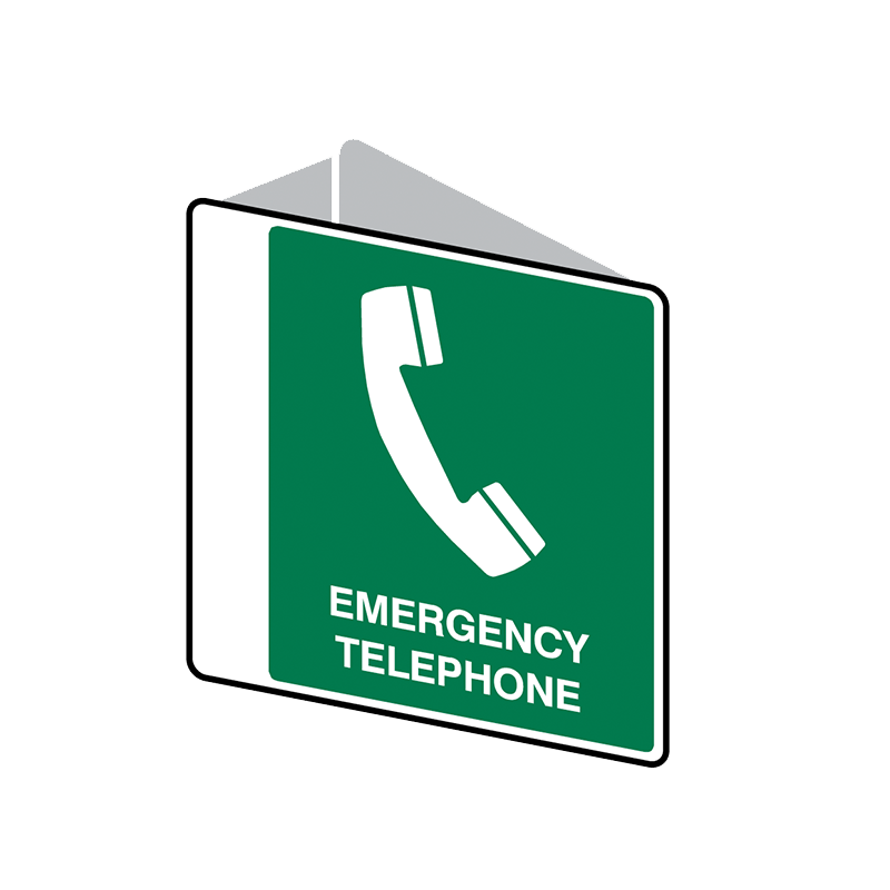 Brady First Aid Sign 2 Way Emergency Telephone