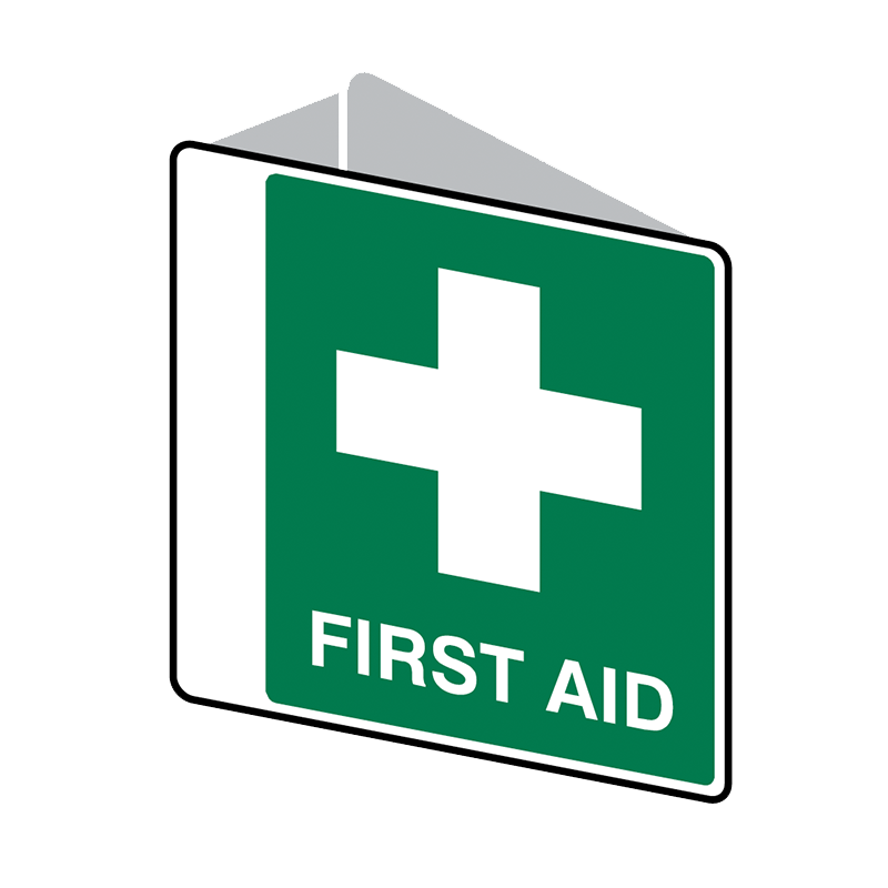 Brady First Aid Sign 2 Way First Aid