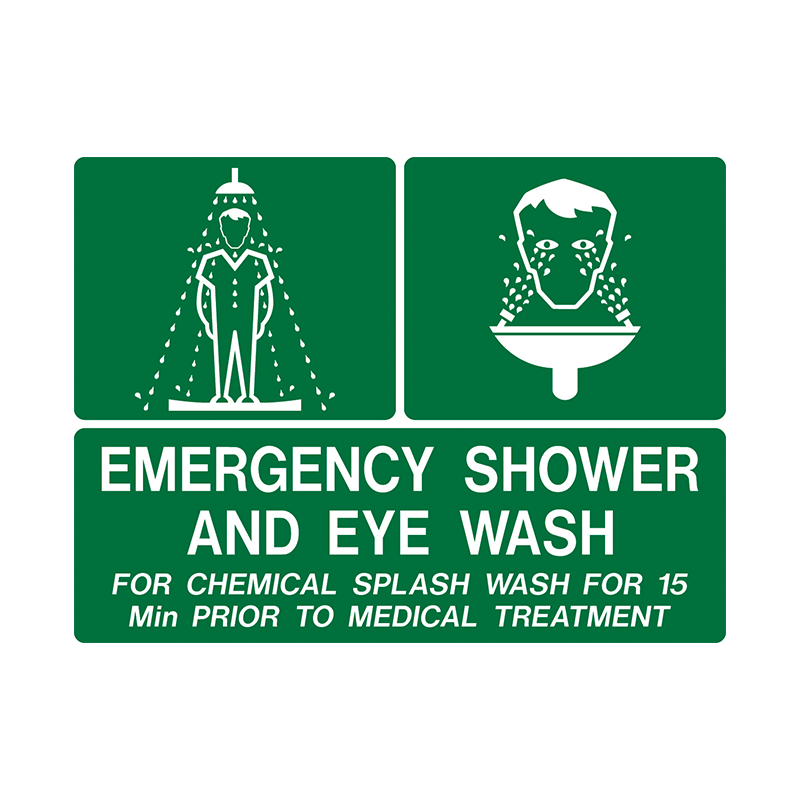 Brady First Aid Sign Range Emergency Shower and Eye Wash