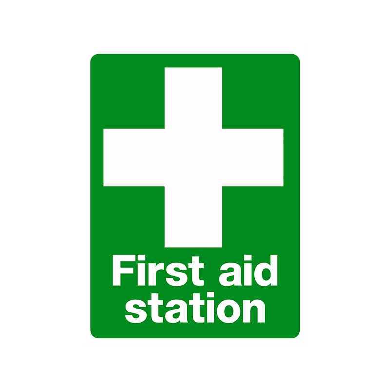 Brady First Aid Sign Range First Aid Station