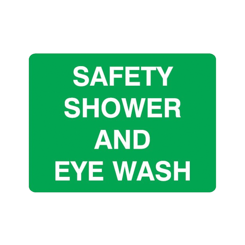 Brady First Aid Sign Range Safety Shower and Eye Wash