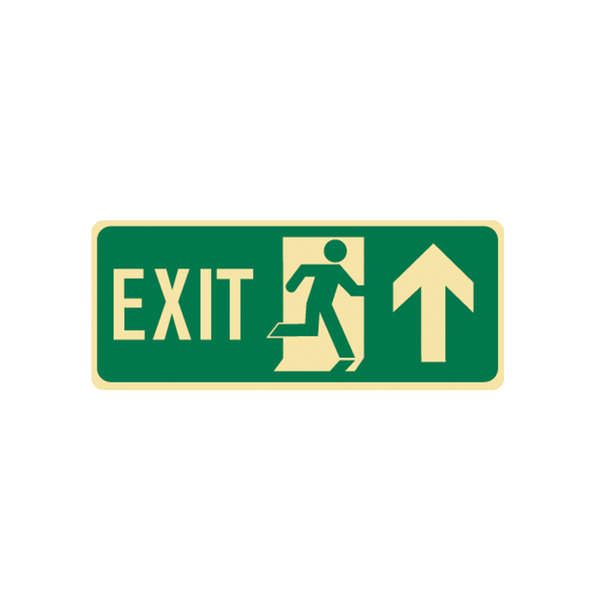 Brady Glow in the Dark and Standard Floor Exit Symbol Up Arrow