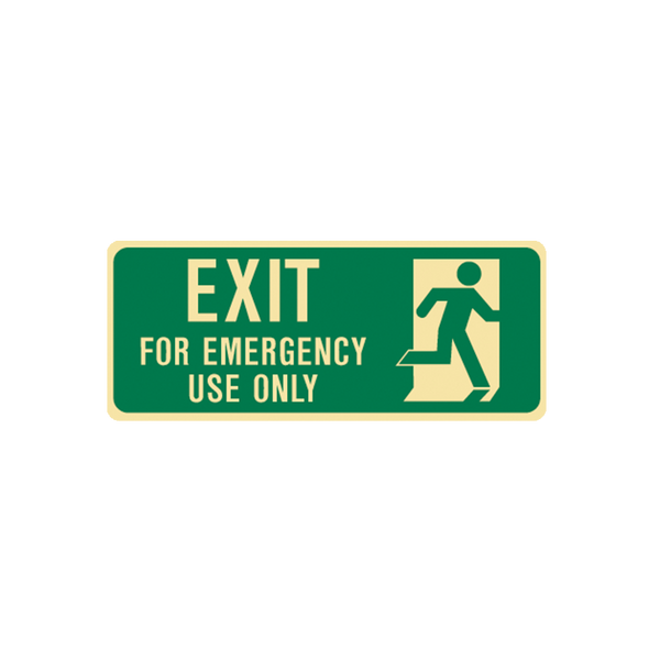 Brady Glow in the Dark and Standard Floor Exit for Emergency Use Only