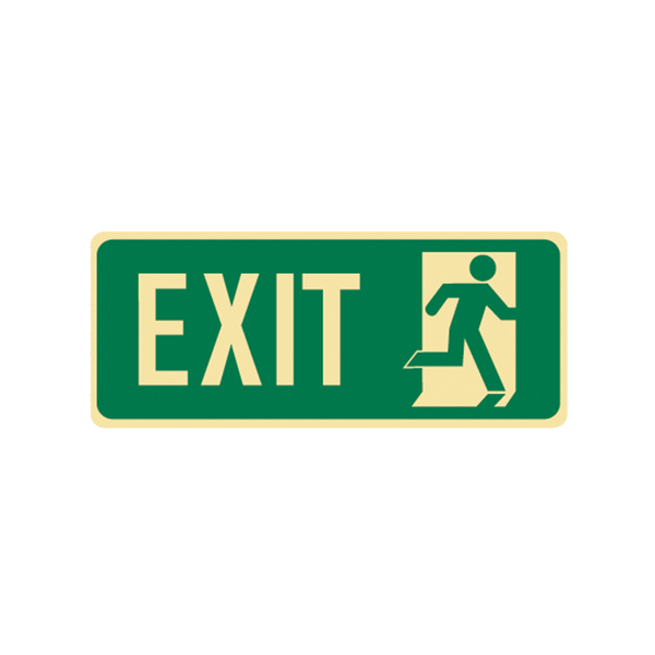 Brady Glow in the Dark and Standard Floor Sign Exit with Symbol