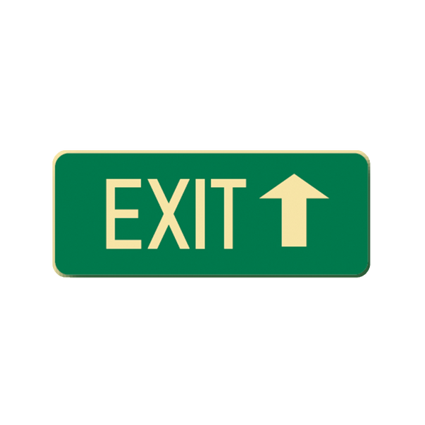 Brady Glow in the Dark and Standard Floor Sign Exit with Up Pointing Arrow