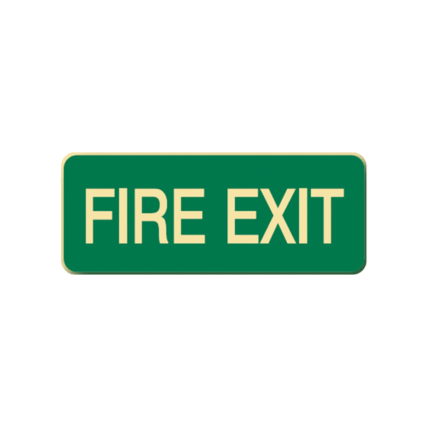 Brady Glow in the Dark and Standard Floor Sign Fire Exit