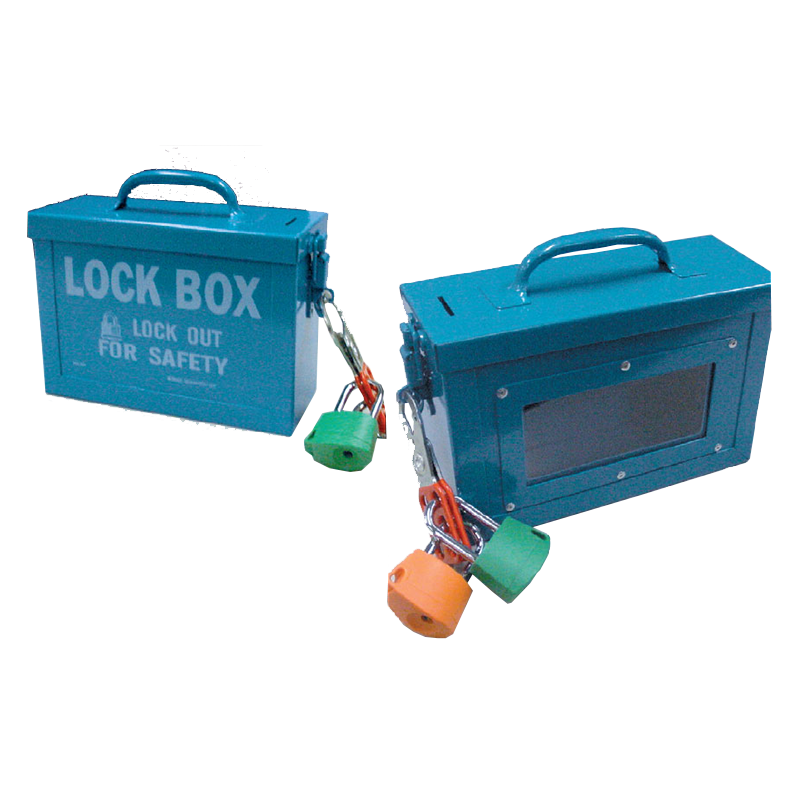 Brady Lock Box with Window 848018 - images shows the two sides of the lock box
