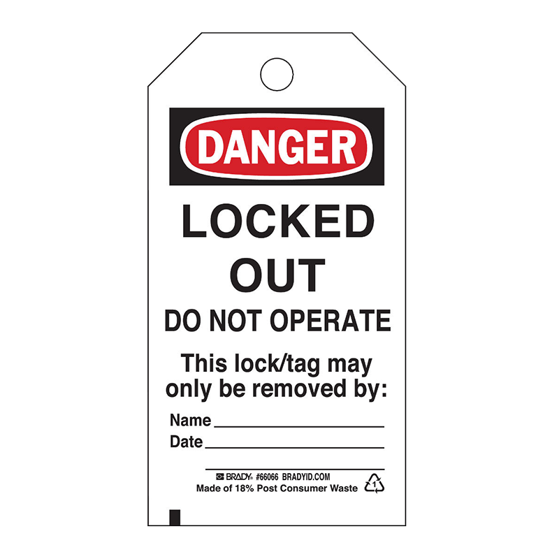 Brady Lockout Tag - Locked Out
