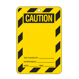 Brady Lockout Tag Large Economy - Yellow Caution Blank