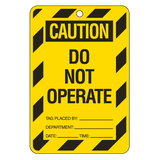 Brady Lockout Tag Large Economy - Yellow Caution Do Not Operate