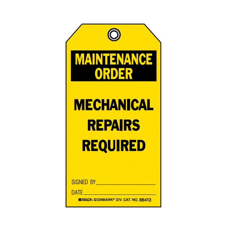 Brady Lockout Tag Maintenance Order 86413