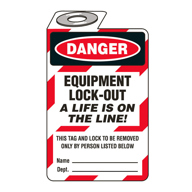 Brady Padlock Tag 852765 Equipment Lock-Out A Life is on the Line
