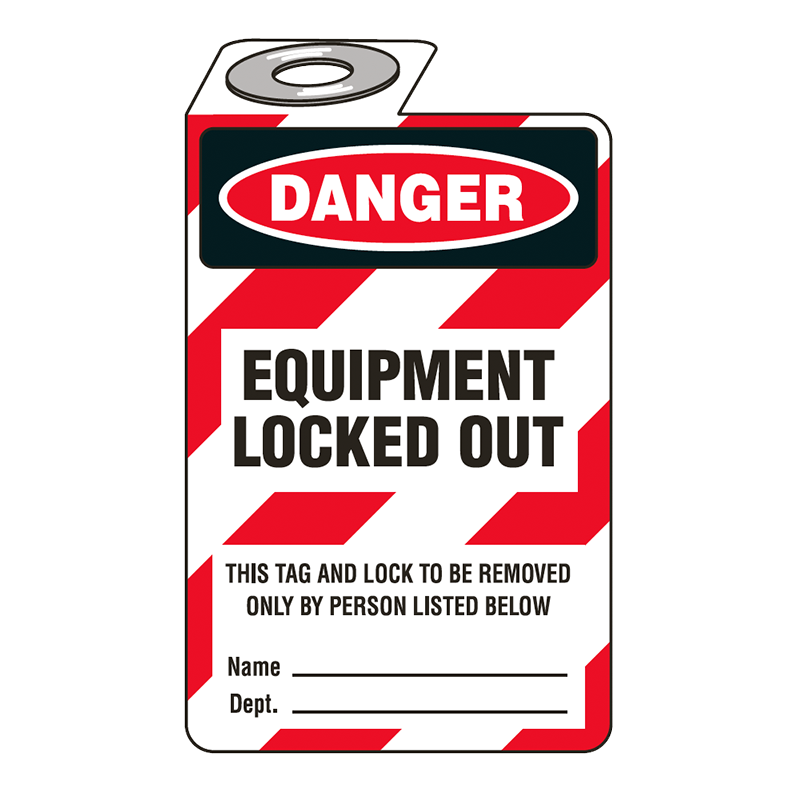 Brady Padlock Tag 852769 Equipment Locked Out