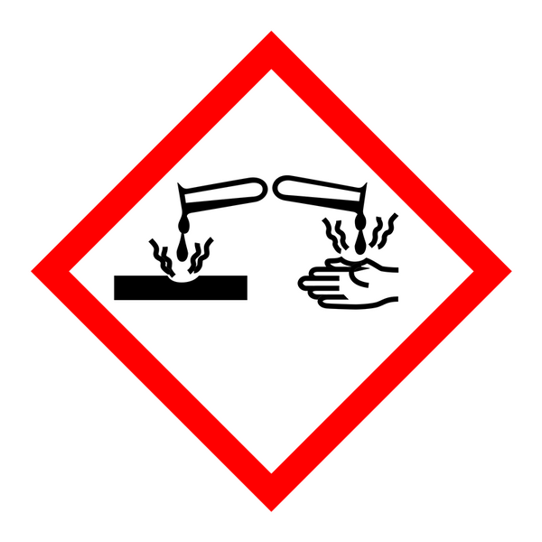Brady Pre-Printed GHS Pictogram Labels - Corrosive