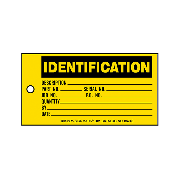 Brady Production Status Tag Identification 86740