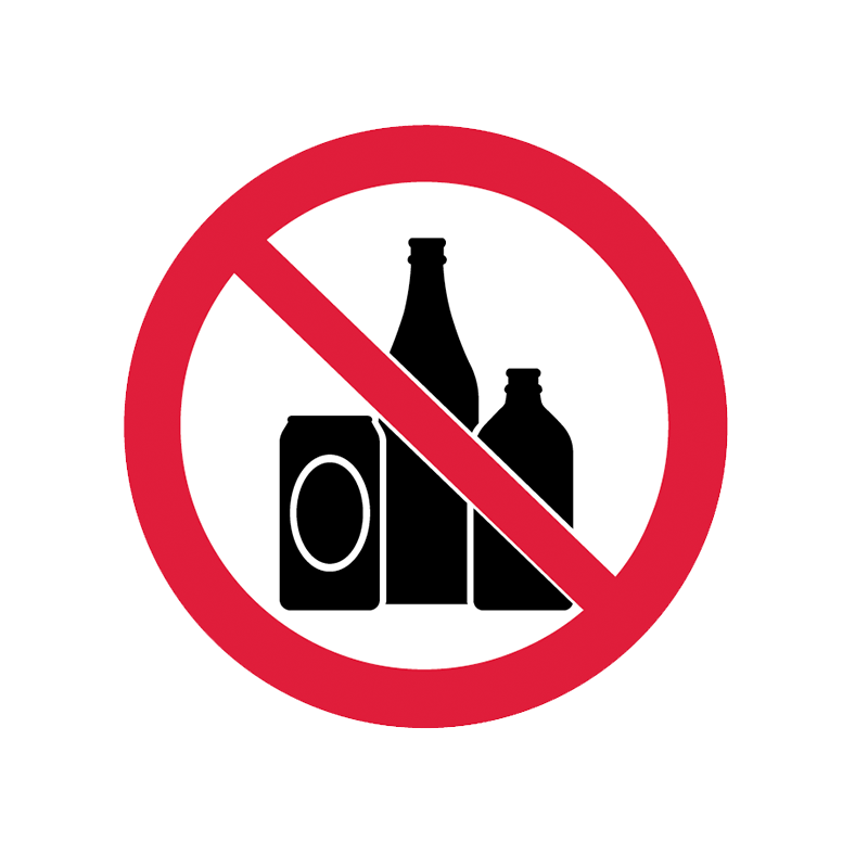 Brady Prohibition Pictograms: No Alcohol