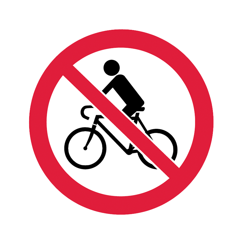Brady Prohibition Pictograms: No Bikes