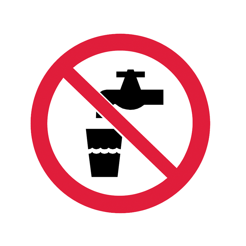 Brady Prohibition Pictograms: No Drinking