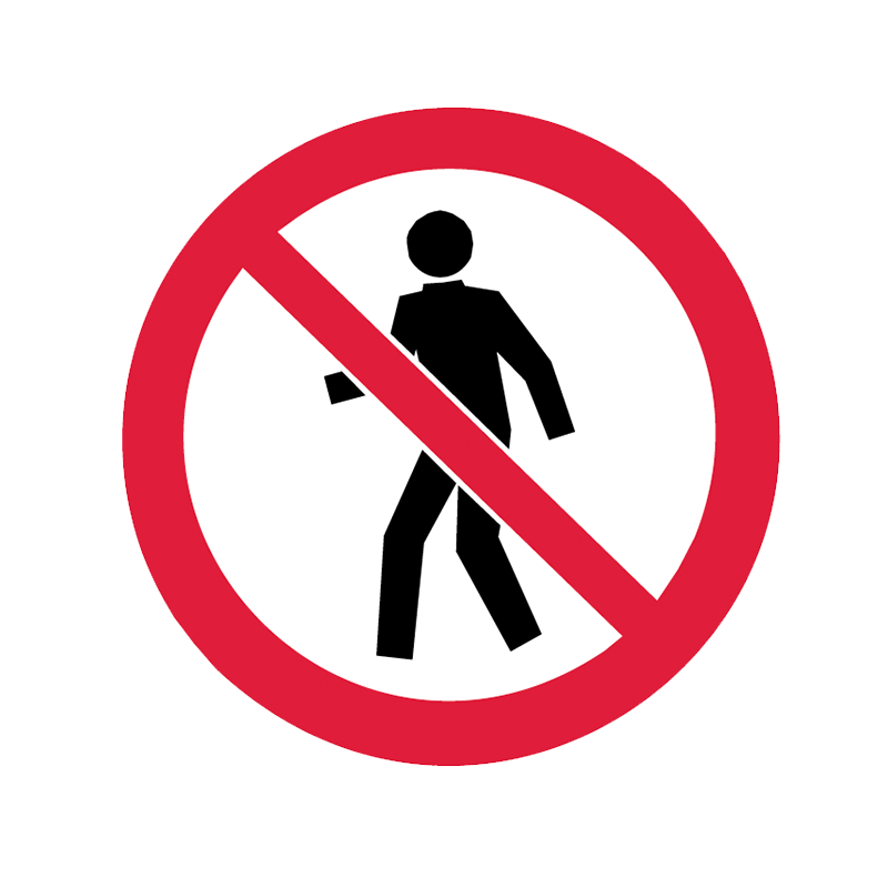 Brady Prohibition Pictograms: No Entry