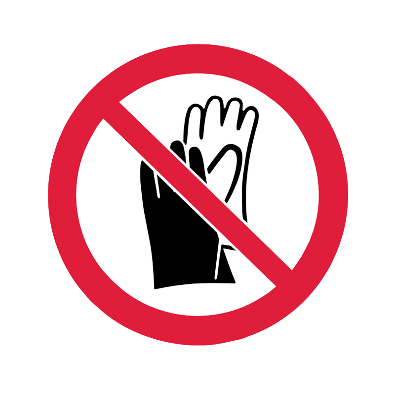 Brady Prohibition Pictograms: No Gloves