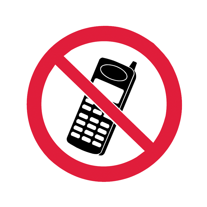 Brady Prohibition Pictograms: No Mobiles