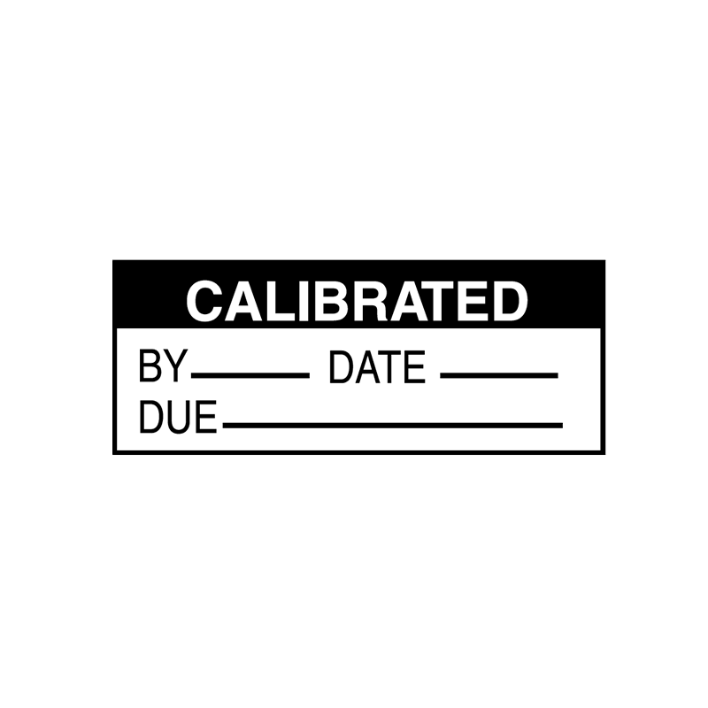 Brady Quality Assurance Label Calibrated