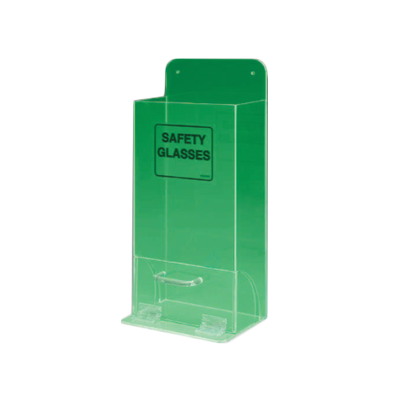 Brady Safety Glass Dispenser Green Fluorescent Acrylic 852467