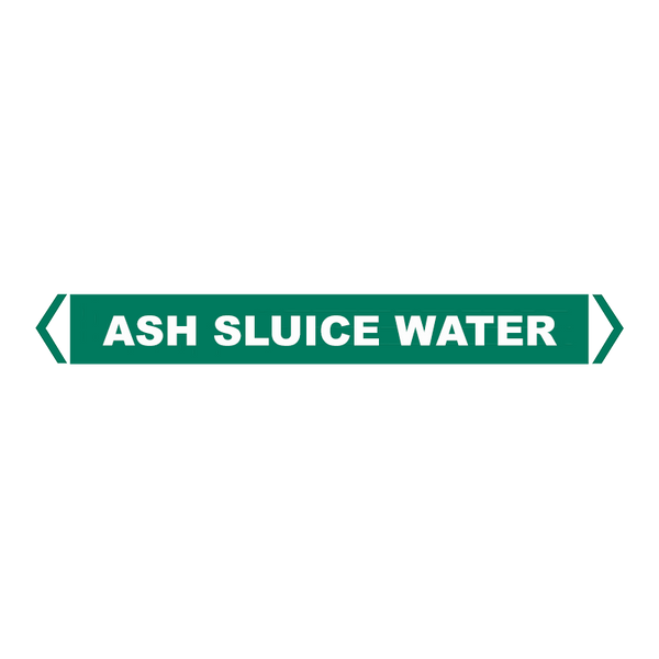Brady Self Sticking Vinyl Pipe Marker Range - Ash Sluice Water