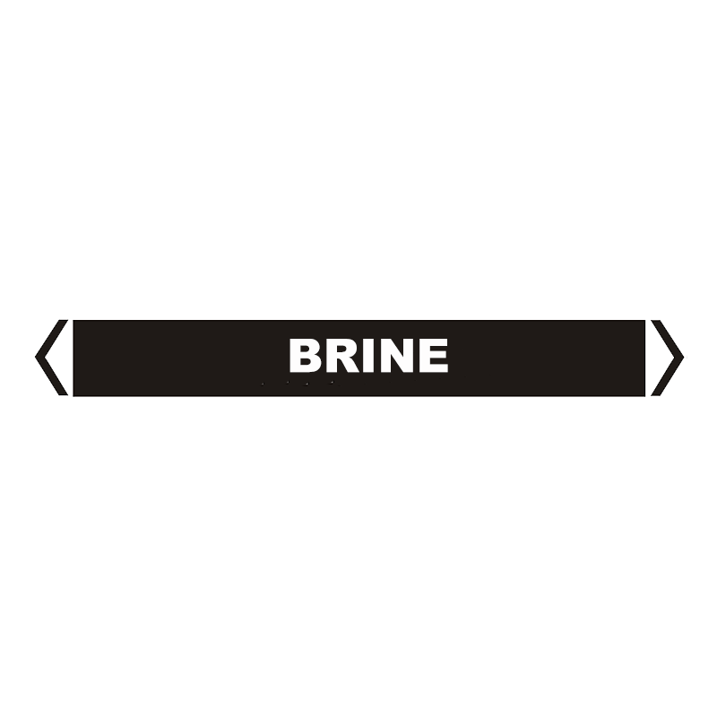 Brady Self Sticking Vinyl Pipe Marker Range - Brine