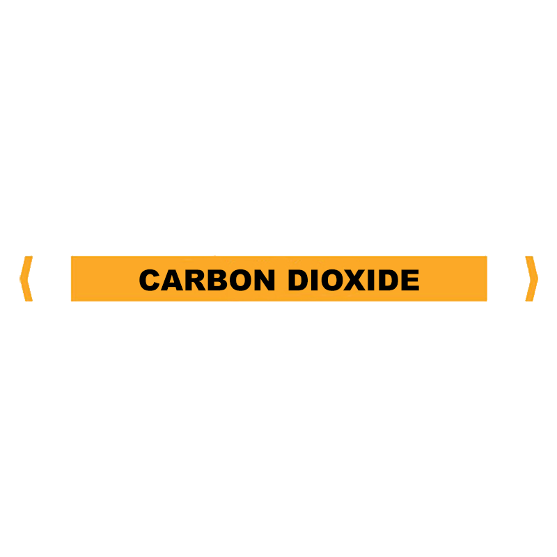 Brady Self Sticking Vinyl Pipe Marker Range - Carbon Dioxide