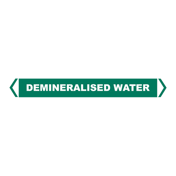 Brady Self Sticking Vinyl Pipe Marker Range - Demineralised Water