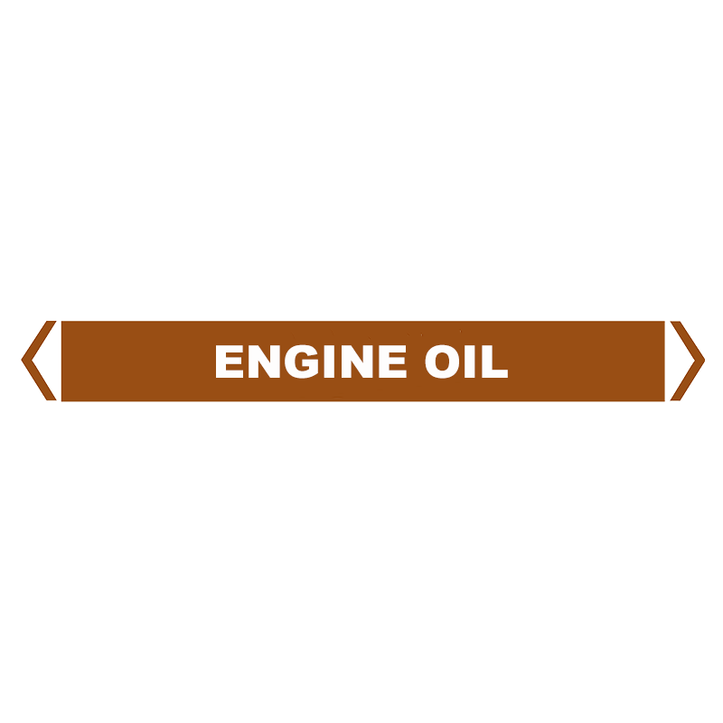 Brady Self Sticking Vinyl Pipe Marker Range - Engine Oil