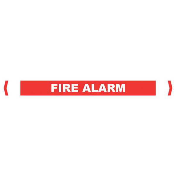 Brady Self Sticking Vinyl Pipe Marker Range - Fire Alarm