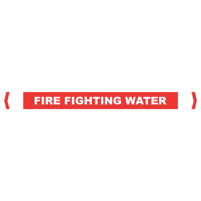Brady Self Sticking Vinyl Pipe Marker Range - Fire Fighting Water