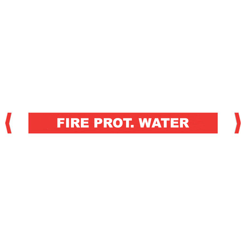 Brady Self Sticking Vinyl Pipe Marker Range - Fire Prot. Water