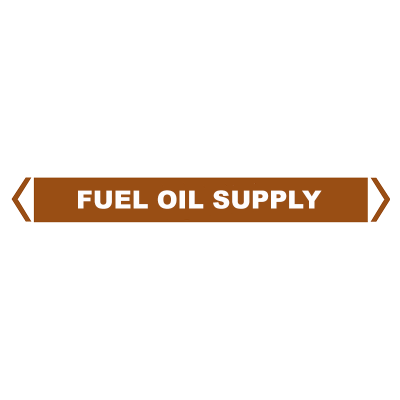 Brady Self Sticking Vinyl Pipe Marker Range - Fuel Oil Supply