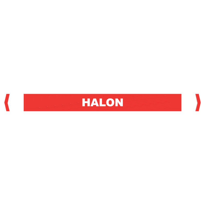 Brady Self Sticking Vinyl Pipe Marker Range - Halon