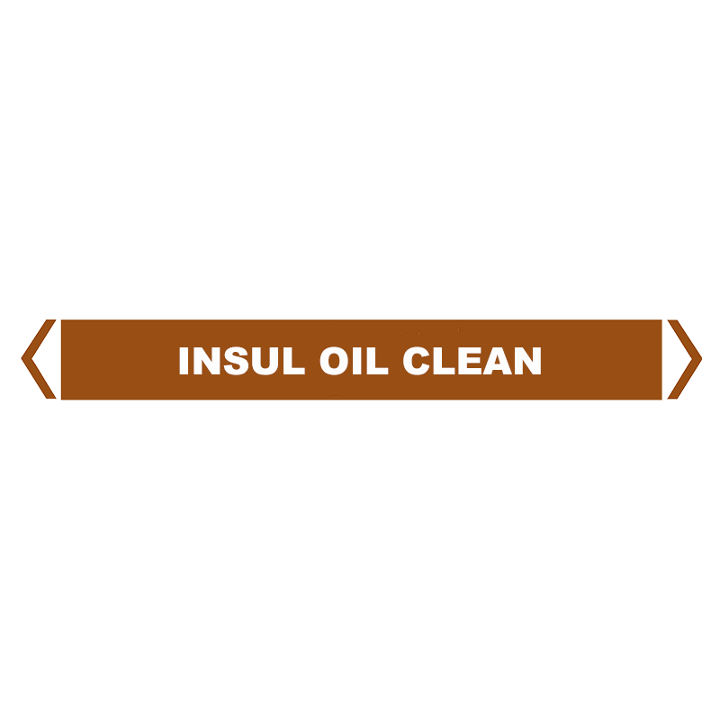 Brady Self Sticking Vinyl Pipe Marker Range - Insul Oil Clean