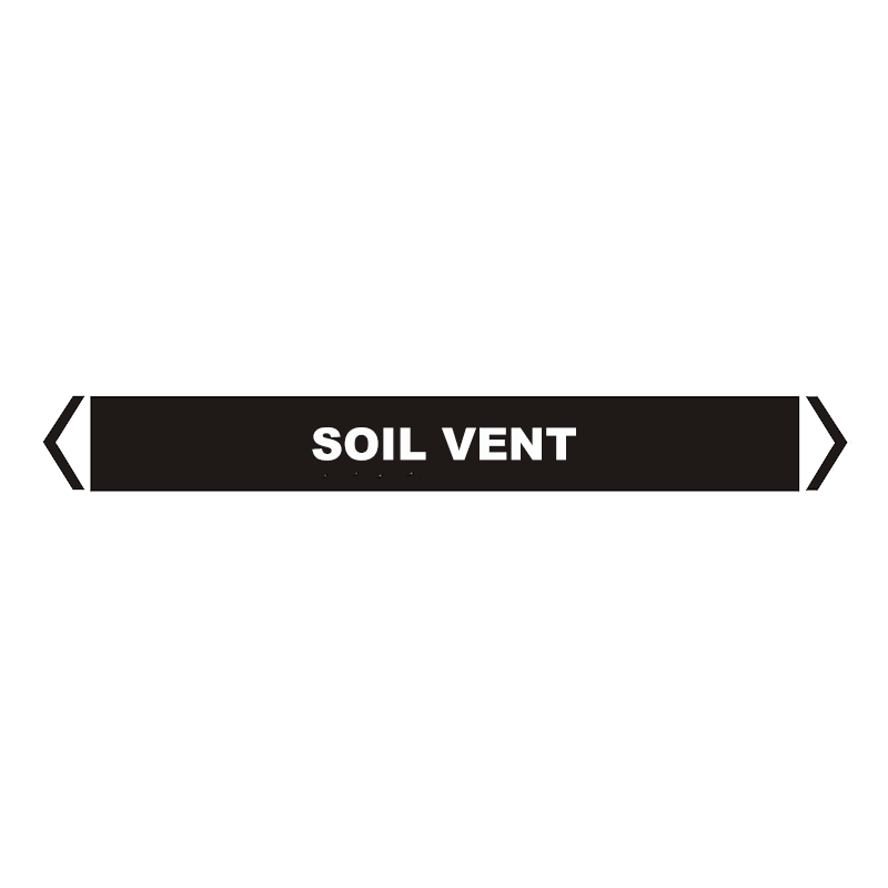 Brady Self Sticking Vinyl Pipe Marker Range - Soil Vent