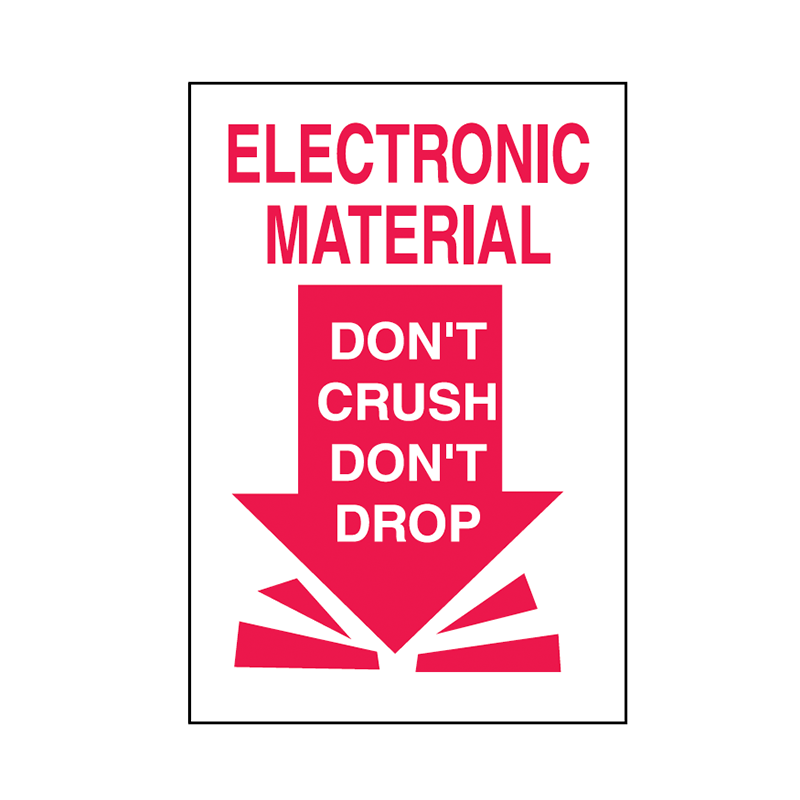 Brady Shipping Label Electronic Material Do Not Crush Do Not Drop 100x150 500 per Roll 834453