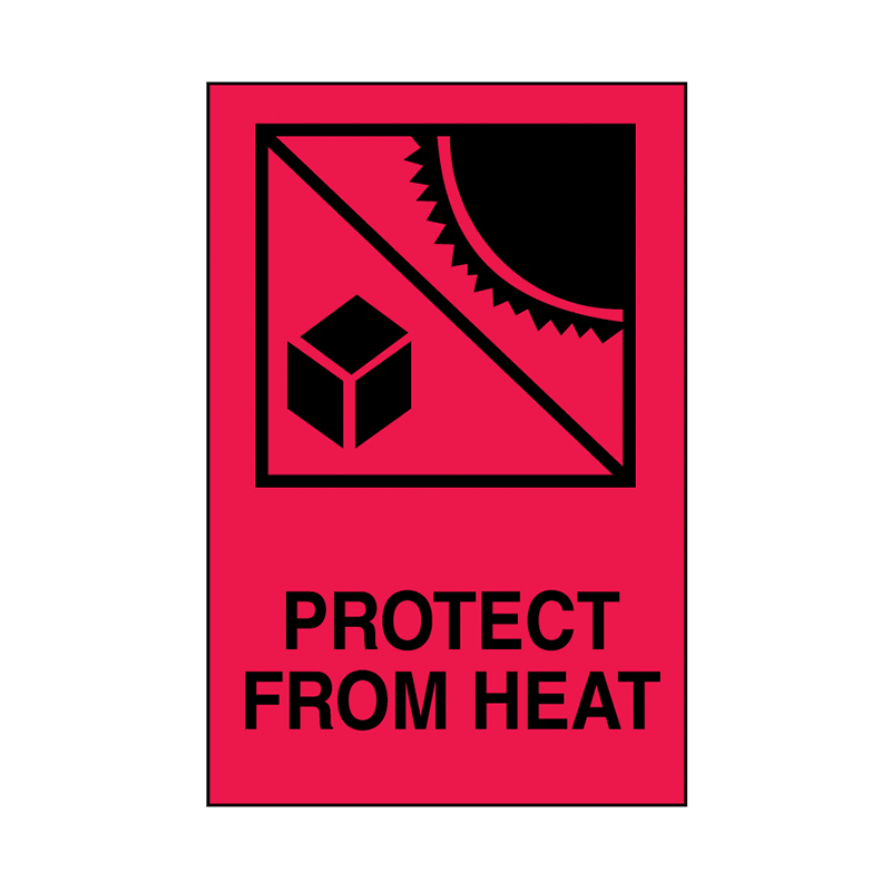 Brady Shipping Label Protect from Heat 100x150 500 per Roll 834409