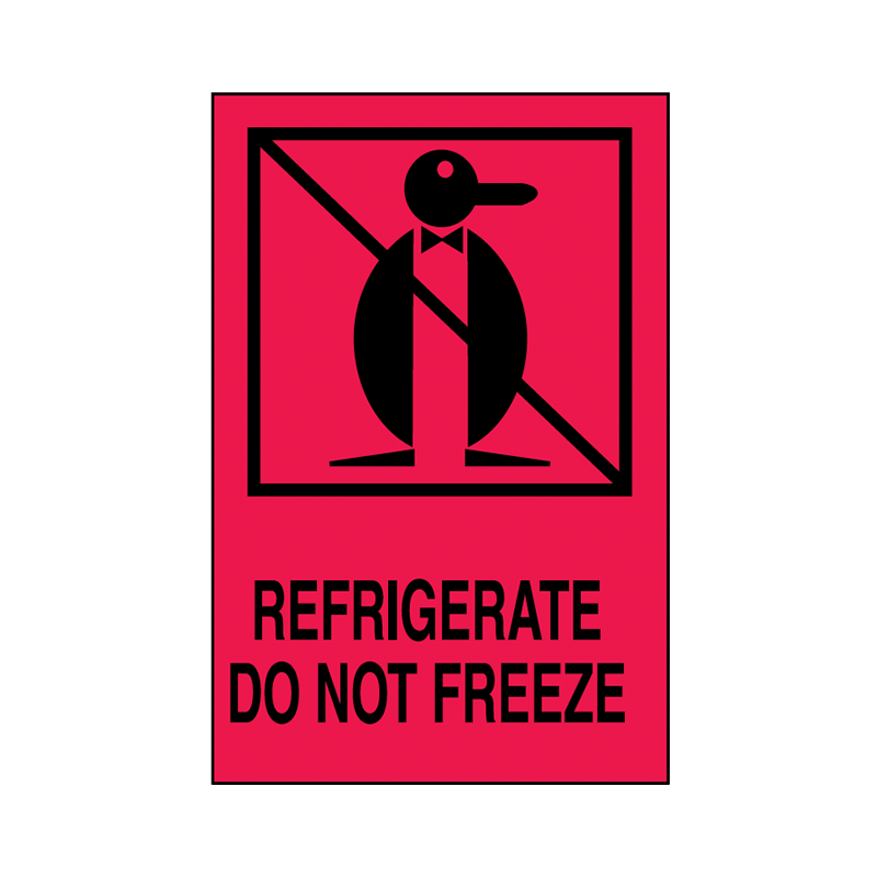 Brady Shipping Label Refrigerate Do Not Freeze 100x150 500 per Roll 834419