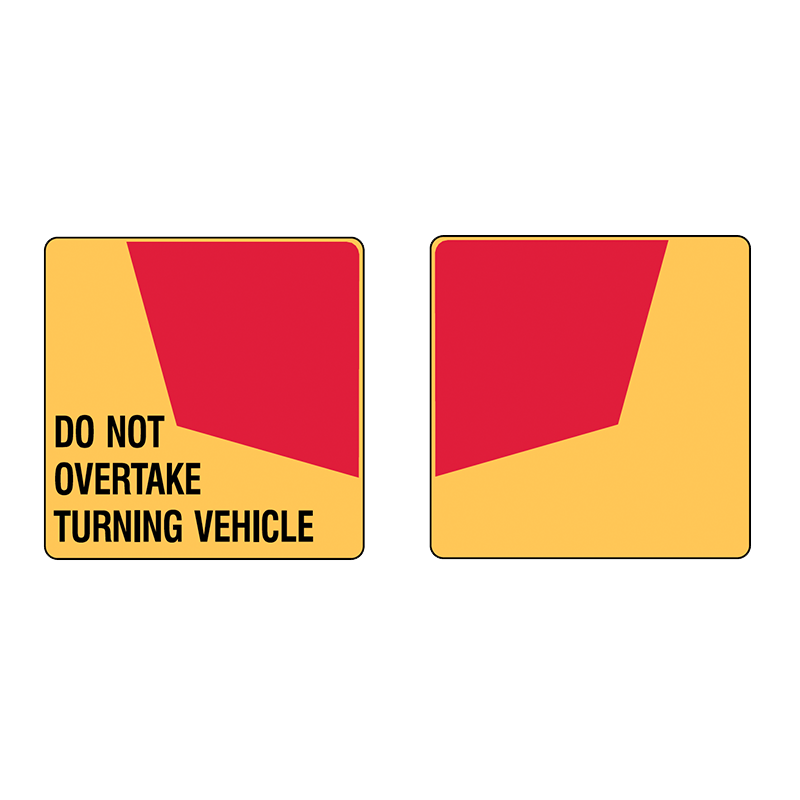 Brady Vehicle and Truck Identification - Do Not Overtake Turning Vehicle - Pair