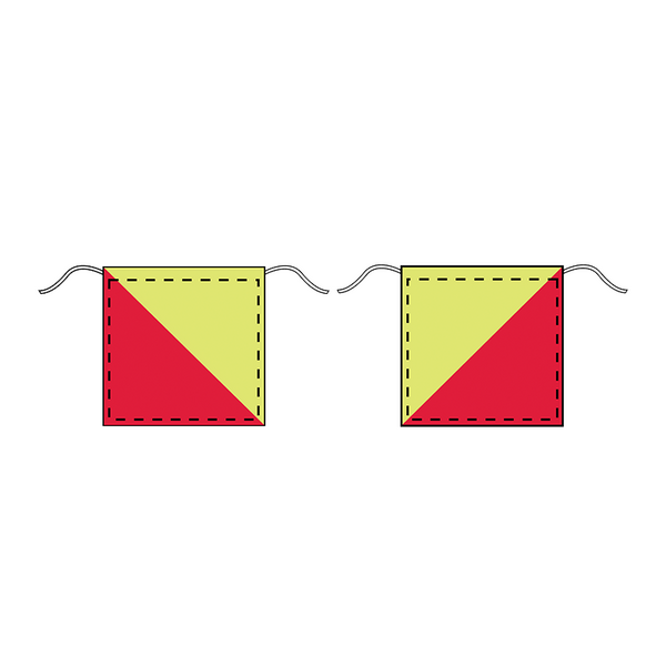 Brady Vehicle and Truck Identification - Red / Lime Canvas - Pair