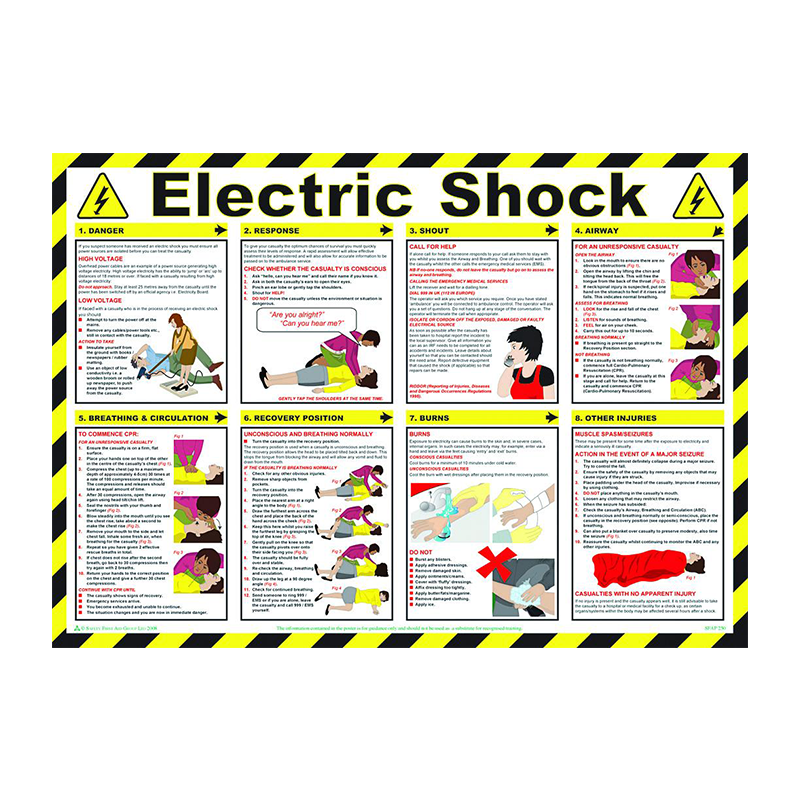 Brady Workplace Safety Poster Electric Shock 844393