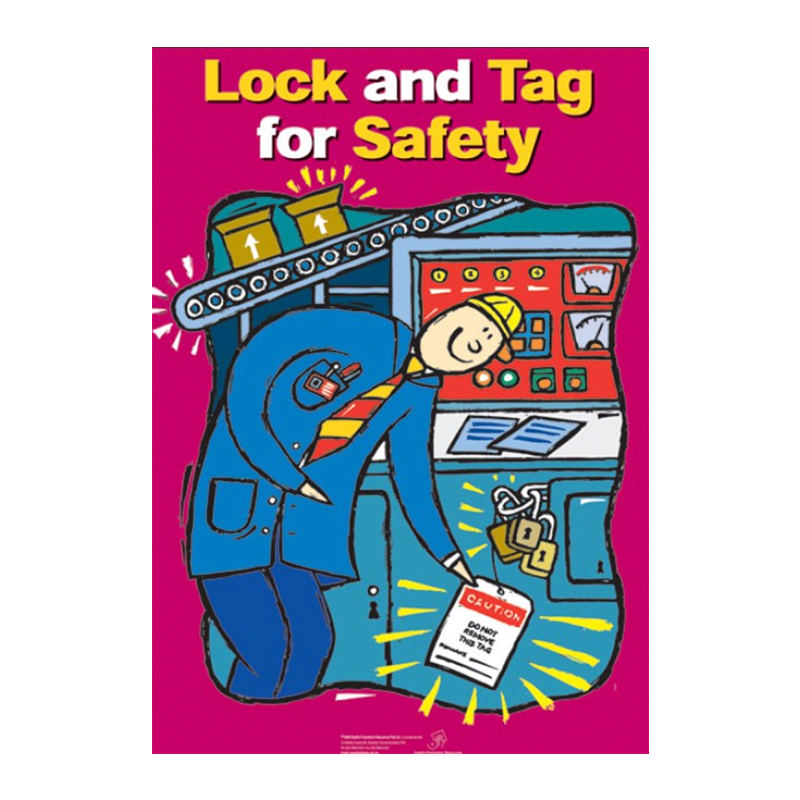 Brady Workplace Safety Poster Lock and Tag for Safety 848220