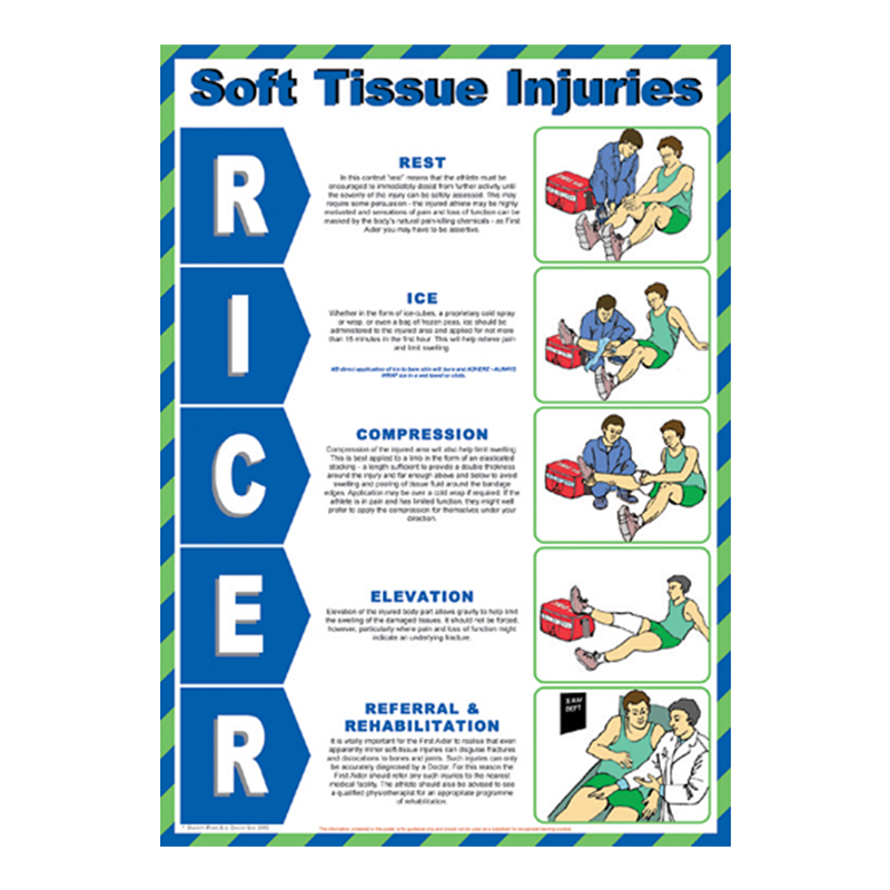 Brady Workplace Safety Poster Soft Tissue Injuries 844395